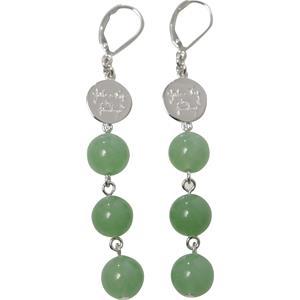 Gab & Ty by Jana Ina - Kolczyki - Kolczyki zielony jadeit srebro próby 925