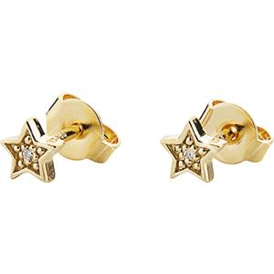 Gab & Ty by Jana Ina - Earrings - Stud Earrings Star, sterling silver, gold plated