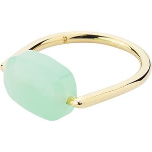 "Gab & Ty by Jana Ina - Rings - ""Floating Stone"" Ring, Olive Coloured Stone, Yellow Gold-Plated"