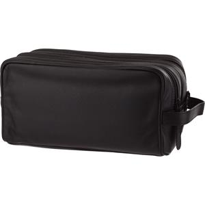 Hans Kniebes - Wash bags - Genuine Cowhide Leather Double Zip Wash Bag