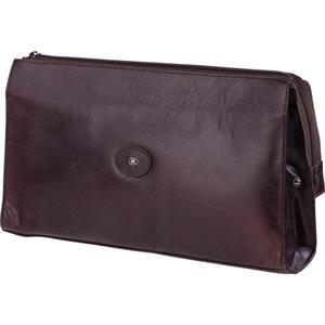 Hans Kniebes - Wash bags - Full-Grain Amalfi Cowhide Leather Wash Bag