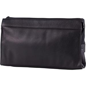 Hans Kniebes - Wash bags - Genuine Cowhide Leather Wash Bag with 3-Piece Nickel-Plated Pocket Manicure Case