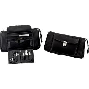 Hans Kniebes - Wash bags - Shrunk-Tanned Full-Grain Cowhide Leather Wash Bag with Built-In 9-Piece Stainless Travel Kit