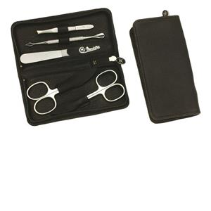 Hans Kniebes - Manicure-Etuis - 5-Piece Stainless Full-Grain Amalfi Cowhide Leather Manicure Case