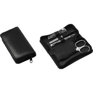 Hans Kniebes - Manicure-Etuis - 5-Piece Stainless Nappa Sheepskin Manicure Case