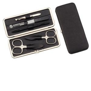 Hans Kniebes - Manicure-Etuis - 5-Piece Nickel-Plated Full-Grain Nappa Cowhide Manicure Case