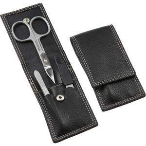 Hans Kniebes - Manicure-Etuis - 3-Piece Cowhide Leather Manicure Set, rust free
