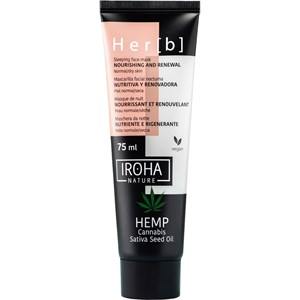 Iroha - Péče o obličej - Hemp Cannabis Sativa Seed Oil Nourishing and Renewal Sleeping Face Mask