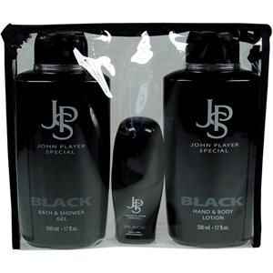 Image of John Player Special Herrendüfte Black Geschenkset Bath & Shower Gel 500 ml + Bodylotion 500 ml + Deo Roll-On 50 ml 1 Stk.