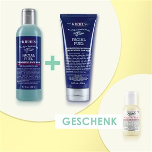 Kiehl's - Cura idratante - Facial Fuel Energizing Moisture Treatment mit Sonnenschutzfaktor 15 125 ml + Energizing Face Wash Facial Fuel 250 ml