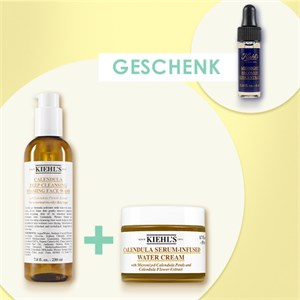 Kiehl's - Reinigung - Calendula Serum-Infused Water Cream 50 ml + Deep Cleansing Foaming Face Wash Calendula 230 ml