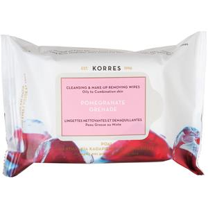 korres-gesichtspflege-cleansing-daily-pomegranate-cleansing-makeup-removing-wipes-pomegranate-25-stk-