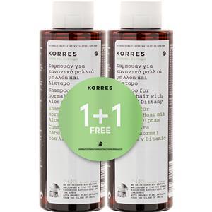 Korres - Haarpflege - 1+1 Shampoo Aloe & Dittany
