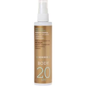 Korres - Sonnenpflege - Red Grape Sunscreen Dry Body Oil SPF 20