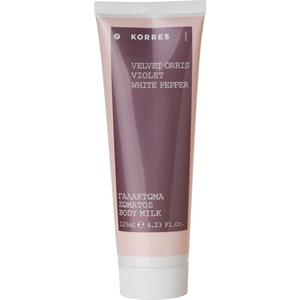 Image of Korres Damendüfte Velvet Orris, Violet, White Pepper Body Milk 125 ml