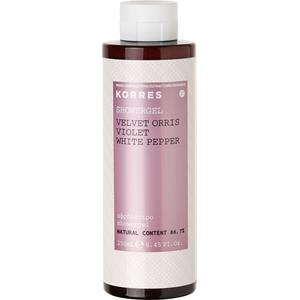 Image of Korres Damendüfte Velvet Orris, Violet, White Pepper Shower Gel 250 ml