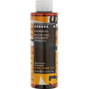 Image of Korres Damendüfte White Tea, Bergamot, Freesia Shower Gel 250 ml