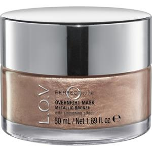 L.O.V - Gesichtspflege - Metallic Bronze Perfectitude Overnight Mask