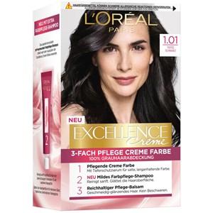 L'Oréal Paris - Excellence - Crème 1.01 Tiefes Schwarz