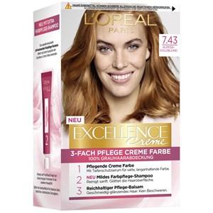 L'Oréal Paris - Excellence - Crème 7.43 Kupfer Goldblond