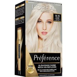 L'Oréal Paris - Préférence - Ultra-helles kühles Kristall-Blond Coloration 11.11. Island