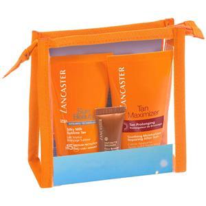 Lancaster Sonnenpflege Sun Care Sun Pouch Geschenkset Silky Milk SPF 15 - 50 ml + Tan Maximizer Soothing Moisturizer 50 ml + Infinite Bronze SPF 15 - 3 ml 1 Stk.