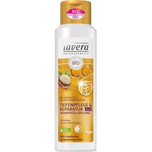 Lavera - Shampoo - Organic Almond Oil & Organic Macadamia Nut Oil Deep Clean & Repair 2 in 1 Shampoo & Conditioner