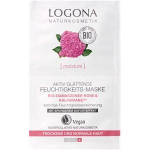 Logona - Anti-Aging Pflege - Bio-Damaszener Rose & Kalpariane Aktiv Glättende Feuchtigkeits-Maske