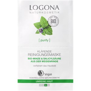 Logona - Cleansing - Organic Mint & Salicylic Acid from Willow bark Organic Mint & Salicylic Acid from Willow bark