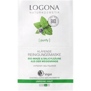 Logona - Reinigung - Bio-Minze & Salicylsäure aus Weidenrinde Klärende Reinigungsmaske