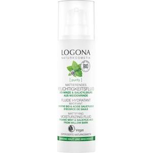 Logona - Reinigung - Bio-Minze & Salicylsäure aus Weidenrinde Klärendes Feuchtigkeitsfluid