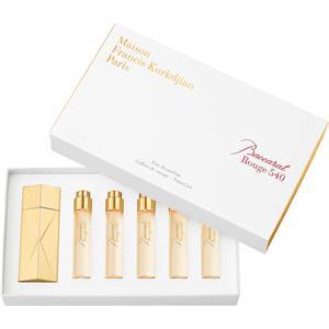 Image of Maison Francis Kurkdjian Unisexdüfte Baccarat Rouge 540 Travel Set Eau de Parfum Spray Refill 11 ml 5 Stk. + Globe Trotter Gold Edition 1 Stk.