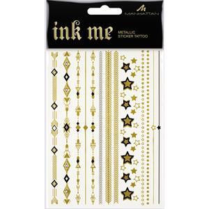 Manhattan - # Dare To Ink - Metallic Sticker Tattoos