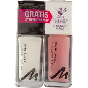 Manhattan - Nägel - Last & Shine Nail Polish + Gratis Strengthener