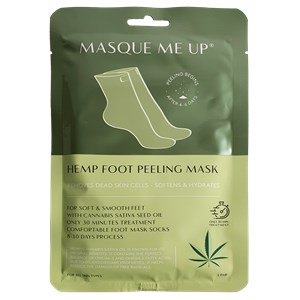 Masque Me Up - Körperpflege - Hemp Foot Peeling Mask Green