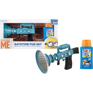 Image of Minions Pflege Körperpflege Bathtime Fun Set Bubble Bath 125 ml + Large Water Squirter + Target Set 1 Stk.