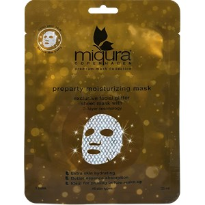 Miqura - Premium Mask Collection - Preparty Moisturizing Mask with Glitter