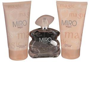 Image of Miro Damendüfte Magic Geschenkset Body Lotion 150 ml + Eau de Parfum 75 ml + Shower Gel 150 ml 1 Stk.