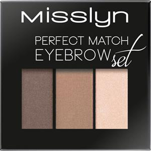 Image of Misslyn Augen Augenbrauen Perfect Match Eyebrow Set Nr. 2 Macchiato Shades 1,20 g