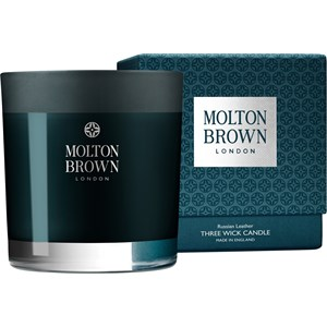 Molton Brown - Kerzen - Russian Leather Three Wick Candle