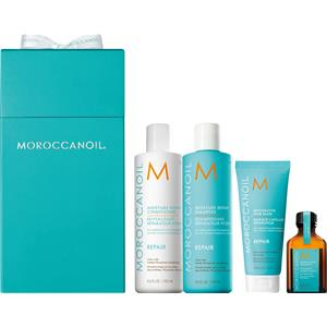 Image of Moroccanoil Haarpflege Behandlung Repair-Package Moisture Repair Shampoo 250 ml + Moisture Repair Conditioner 250 ml ü Restorative Hair Mask 75 ml + Haarölpflegebehandlung 25 ml 1 Stk.