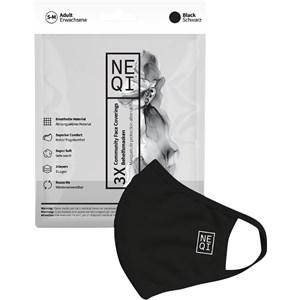 NEQI - Gesichtsmasken - Gesichtsmaske Schwarz 3er-Pack