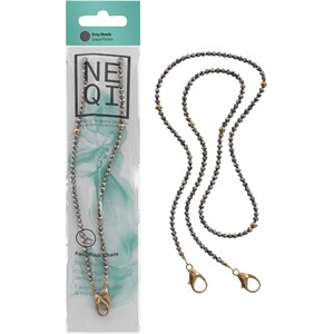NEQI - Face mask chains - Maskenkette Graue Perlen