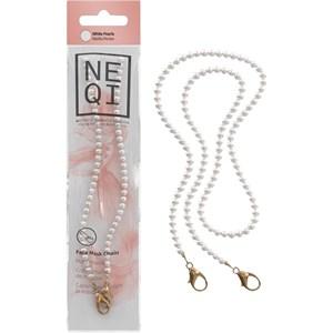 NEQI - Face mask chains - Maskenkette Weiße Perlen