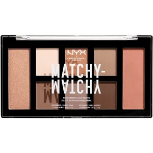 NYX Professional Makeup - Lidschatten - Matchy-Matchy Shadow Palette Taupe