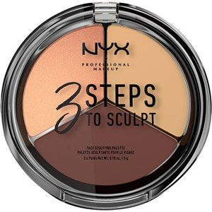 NYX Professional Makeup - Puder - 3 Step To Sculpt Face Sculpting Palette
