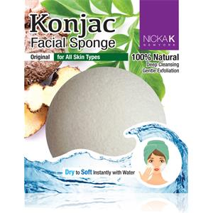 Image of Nicka K Make-up Accessoires Konjac Facial Sponge Red Clay 1 Stk.