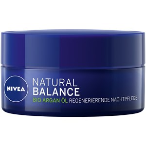 Nivea - Night Care - Aceite de argán orgánico Crema de noche regeneradora Natural Balance