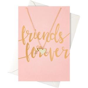 Image of Orelia Schmuck Geschenkkarten Karte Friends Forever mit Herz & Schlüssel Halskette 1 Stk.