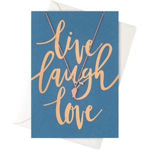 Image of Orelia Schmuck Geschenkkarten Karte Live Laugh Love mit Flügel Halskette 1 Stk.
